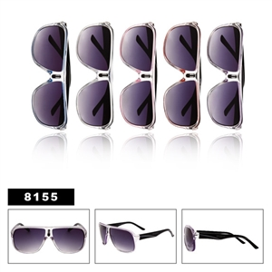 Aviator Sunglasses with Plastic Frame