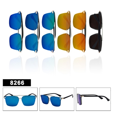 Ladies Retro Mirrored Sunglasses