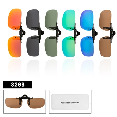 Wholesale Polarized Clip On Sunglasses 8268