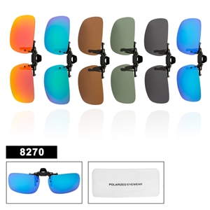 Wholesale Polarized Clip On Sunglasses 8270