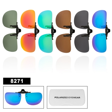 Wholesale Polarized Clip On Sunglasses 8271