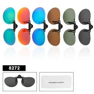 Wholesale Polarized Clip On Sunglasses 8272