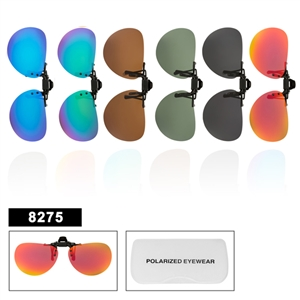 Wholesale Polarized Clip On Sunglasses 8275