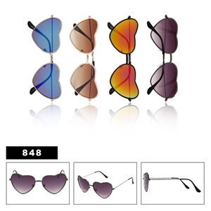 Heart Shape Novelty Sunglasses