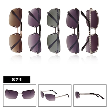 ladies metal fashion sunglasses