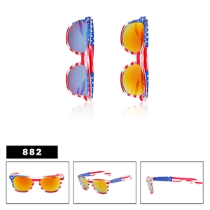 Mirrored U.S. Flag California Classics Sunglasses