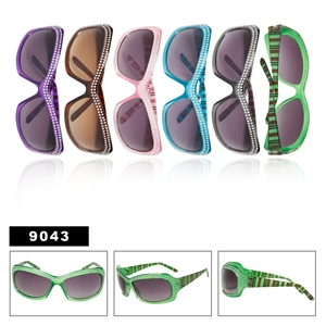 Sleek rhinestone sunglasses for women