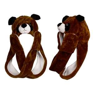 "Wholesale ""Brown Puppy with Long Arms "" Animal Hats A114"