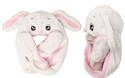"Wholesale ""White/Pink Bunny with Long Arms "" Animal Hats A115"