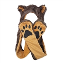 "Wholesale ""Brown Wolf"" Animal Hats A129"