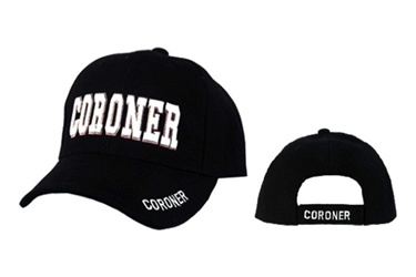 Wholesale Coroner Caps we have them in stock in the color Black.