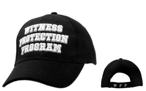 "Wholesale Law Baseball Hats-""Witness Protection Program"""
