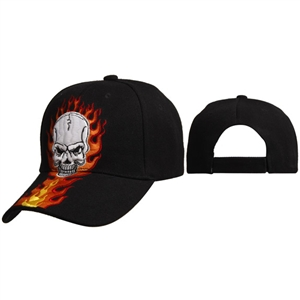 Wholesale Flames & Skull Baseball Hats