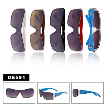 DE591 Wholesale One piece lens sunglasses