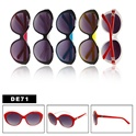 Check out these bright color sunglasses.