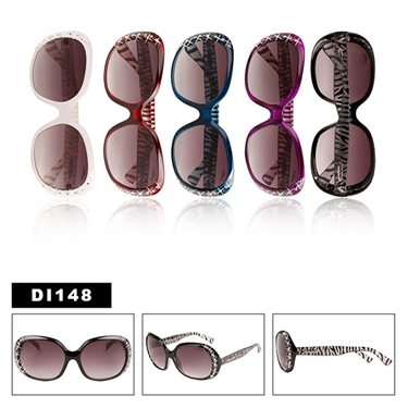 Zebra Print Sunglasses with Rhinestones!