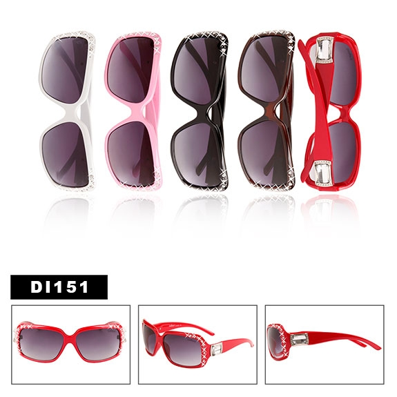 8e3f28dea2a Ladies Designer Sunglasses with Rhinestones