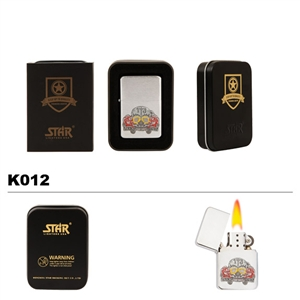 Brass Oil Lighter-Lucky 13-K012