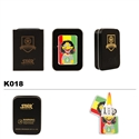 Brass Oil Lighter-Pot Leaf & Reggae Guy-K018