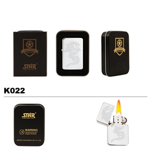 Brass Oil Lighter-Dragon-K022