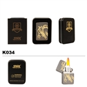 Brass Oil Lighter-Gold Etched Dragon-K034