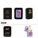 Brass Oil Lighter-3-Color-Finish & Butterfly-K036