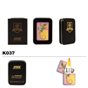 Brass Oil Lighter-3-Color-Finish & Butterfly-K037