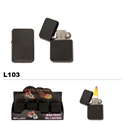 Wholesale plain black oil lighter L103