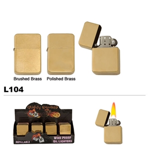 Wholesale brass finish oil lighters L104