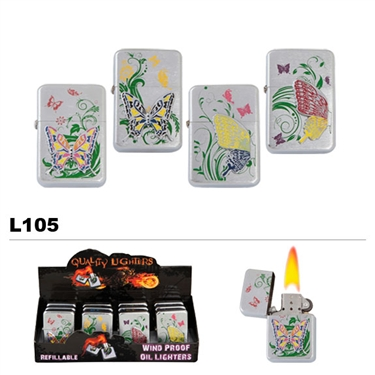 Assorted Butterfly Wholesale Oil Lighters L105