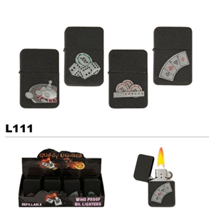 assorted casino game wholesale oil lighters L11