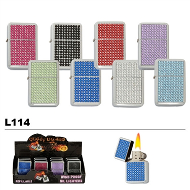 Rhinestone Refillable lighter