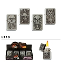 wholesale refillable skull lighters
