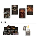 Assorted skulls oil lighters wholesale L128