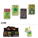Assorted Pot Leaf Wholesale Oil Lighters L135