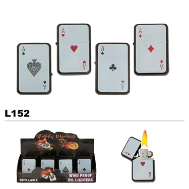 Assorted Aces Wholesale Oil Lighters L152