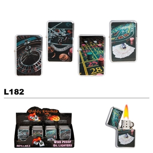 Assorted Casino Wholesale Oil Lighters L182
