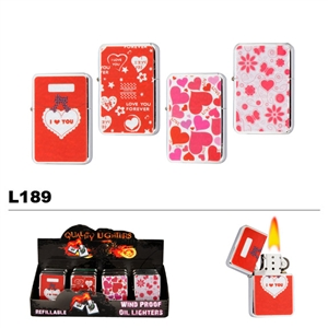 "Assorted ""Love"" Wholesale Oil Lighters L189"
