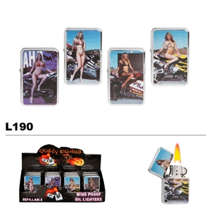 Assorted Motorcycles & Ladies Wholesale Oil Lighters L190