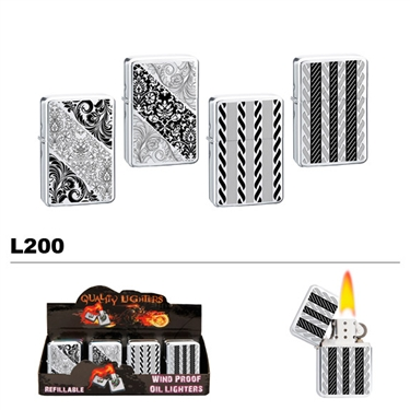 Assorted Patterns Wholesale Oil Lighters L200