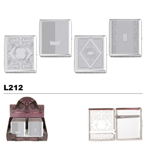 Assorted Embossed Chrome Designs Cases for Cigarettes