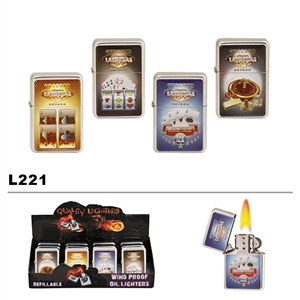 Assorted Las Vegas Wholesale Oil Lighters