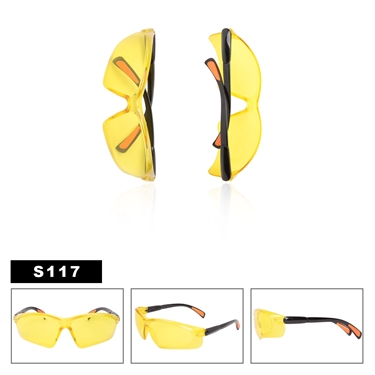 Yellow Lens Safety Glasses S117