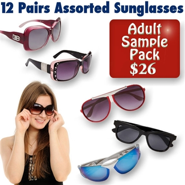 Variety of popular wholesale sunglasses.