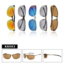 Men's Metal Spring Hinged Sunglasses