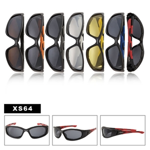 Wholesale Men Sport Sunglasses XS64 Foam Padded Interior