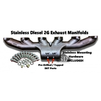 Stainless Diesel Exhaust Manifold T6 12V