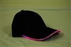 Led Lighted Glow Hat Black Fabric Pink LED
