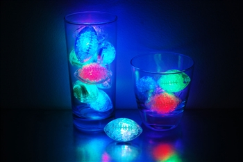 Rainbow LiteCubes 8 Mode Light Up Football Ice Cubes