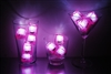 Rose Pink Jewel LiteCubes 3 Mode Light Up Ice Cubes